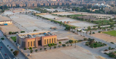 Exhibition land at Nasr City, with the General Authority for Investment and Free Zones building, Cairo, Egypt