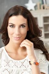 Closeup portrait of confident woman