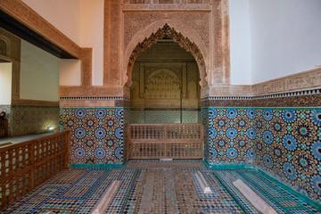 The Saadian Tombs. These tombs are sepulchres of Saadi Dynasty members. Top landmark and sightseeing in Marrakech, Morocco ( Marrakesh , Maroc )