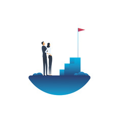 Business goals and objectives vector concept. Symbol of growth, strategy, planning and future.