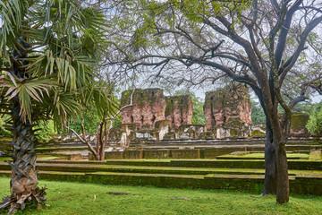 Ancient, ruins in old city Polonnaruwa (Sri Lanka)