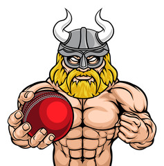 A Viking warrior gladiator cricket sports mascot