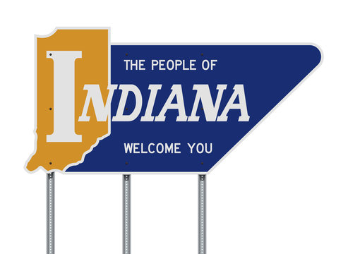 Indiana Welcome You road sign
