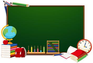 School objects blackboard concept