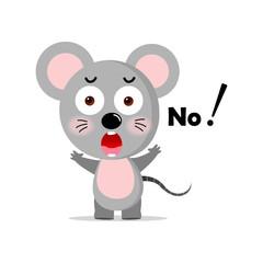 vector concept cute mouse, Vector concept illustration for design.