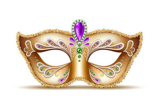 Vector mardi gras venetian mask brazil carnival