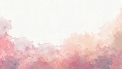 Pink coral purple abstract watercolor background