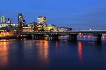 Fototapeta London Skyline at night