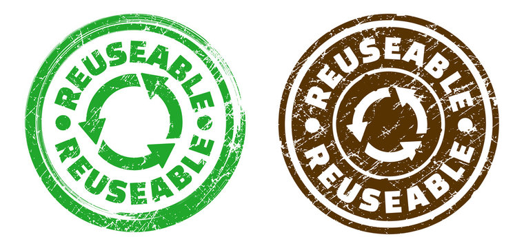 Reusable stamp in grunge texture. Vector illustration.