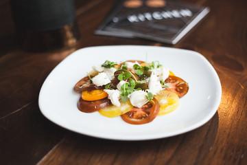 tomato salad with menu