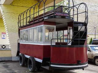 Konka, horse city road - a historical form of public transport. The carriage, which pulled the horse on a regular road or on rails