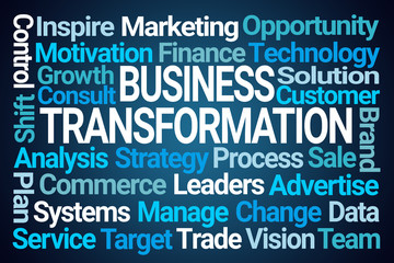 Business Transformation Word Cloud
