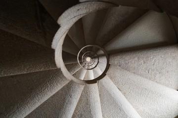 The spiral staircase in Sagrada Familia