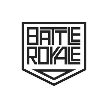 Battle royale lettering game design icon