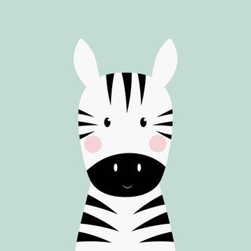 zebra head card