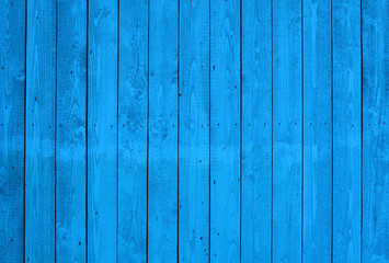 Wooden blue boards. Vertical view. Close-up. Background. Texture.