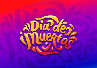 Dia de Muertos festival colorful illustration vector