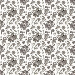Seamless pattern on white background