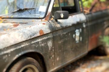 Old car rusty vintage