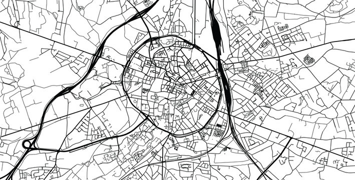 Urban vector city map of Leuven, Belgium