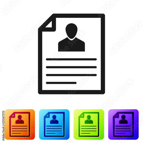 u0026quot grey resume icon isolated on white background  cv