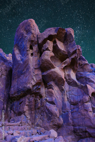 Beautiful starry sky over the mountains of the Sinai