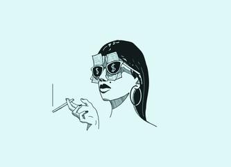 Femme riche