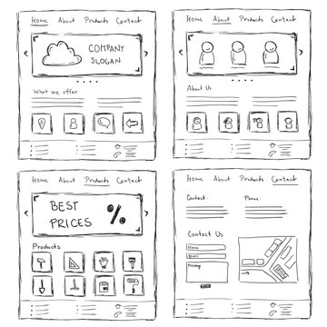 Website Layout Doodles