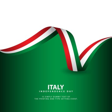 Italy Independence Day Vector Template Design Illustration