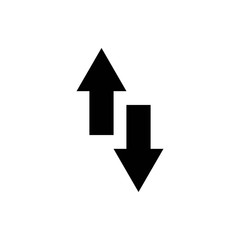 Arrow icon vector. Arrow symbol. navigation icon vector
