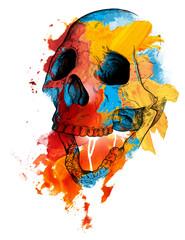 Poster Aquarel Schedel Memento mori skull