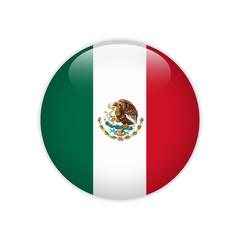 Mexico flag on button