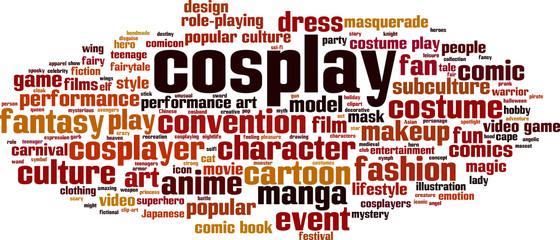 Cosplay word cloud