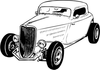 1934 Chevy Vector Illustration Wall mural
