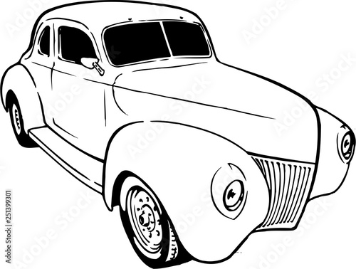 1932 Coupe Vector Illustration Stock Image And Royalty Free Vector