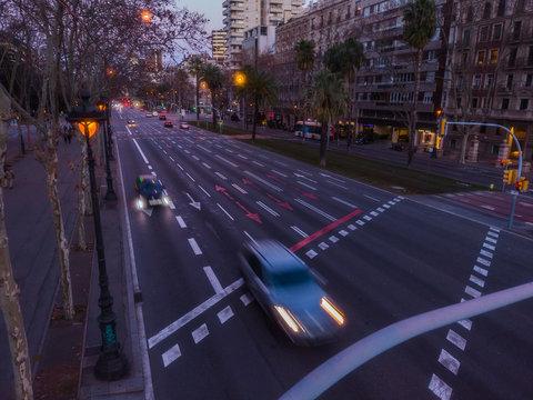 Barcelona. Diagonal Avenue. Catalonia. Spain.