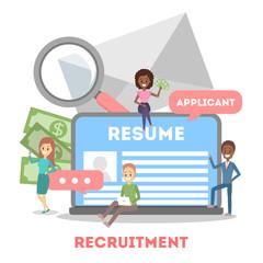 Recruitment concept web banner. Idea of HR