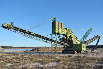 Stone crusher in the quarry.