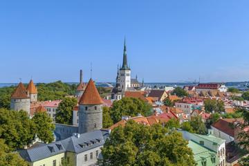 View of Walls of Tallinn, Estonia