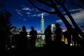The Elephant Mountain observation deck, Taipei