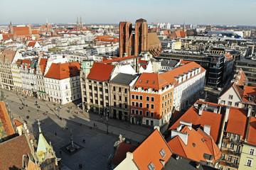 Obraz Rynek we Wrocławiu, Polska - fototapety do salonu