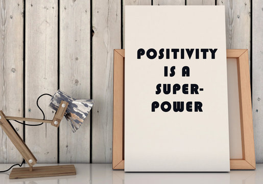 Motivation words Positivity is Superpower. Inspirational quotation. Life, Happiness concept. 3D render