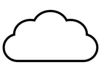 gz332 GrafikZeichnung - german: Wolke - english: cloud - simple template - DIN A4 - g7258