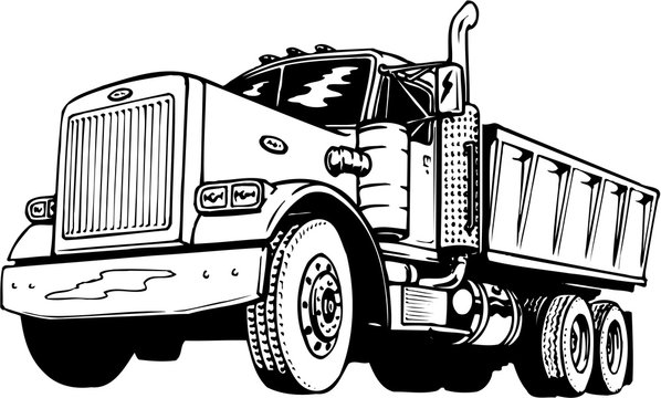 Dump Truck Vector Illustration
