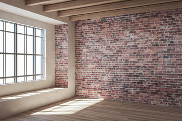 Fotomurales - Contemporary red brick interior