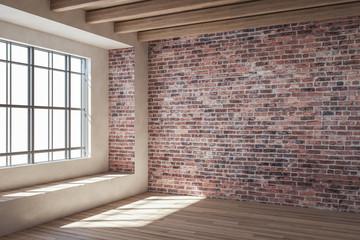 Contemporary red brick interior