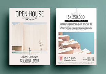 Beige Real Estate Open House Postcard Layout