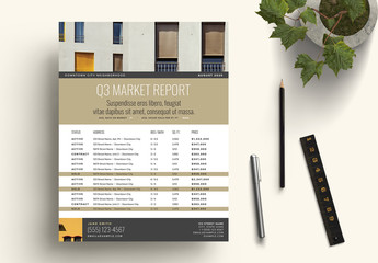 Bronze Real Estate Market Update Flyer Layout