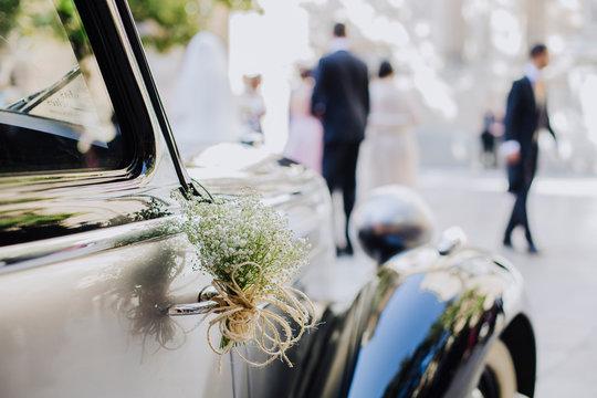 wedding car just married