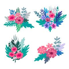 Flowers bouquet set1